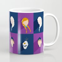 frozen Mugs featuring Frozen by laurenschroer