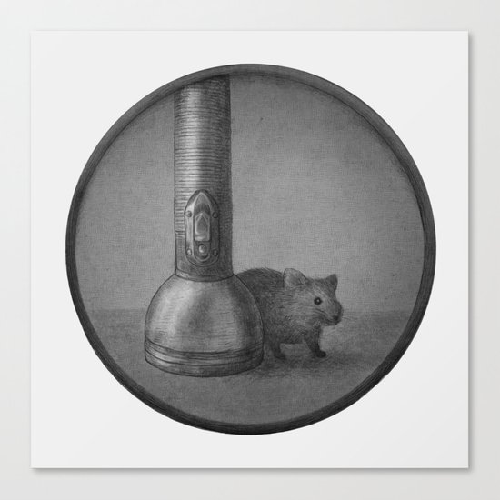 The Mouse & The Flashlight  Canvas Print
