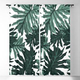 Philo Hope - Tropical Jungle Leaves Pattern #6 #tropical #decor #art #society6 Blackout Curtain