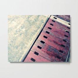 Airplane Hangar Floor 2 Metal Print