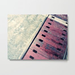 Airplane Hangar Floor 2 Metal Print