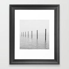 Pilings I Framed Art Print