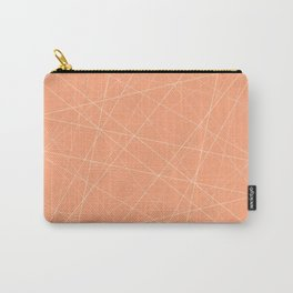 Peachy Lines Abstract Carry-All Pouch