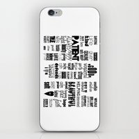 mom iPhone & iPod Skins featuring MOM by nathan daniel