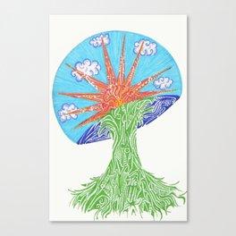 Sunrise Mushroom Canvas Print