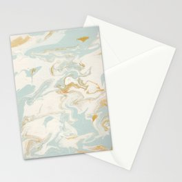 Marble - Cream & Blue Stationery Cards