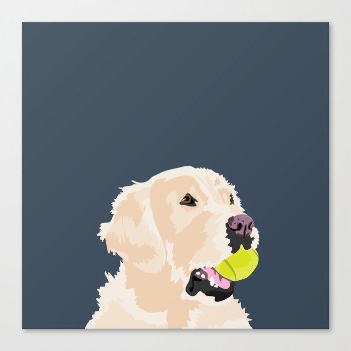 Golden Retriever with tennis ball Leinwanddruck