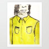 Ma chemise jaune Art Print