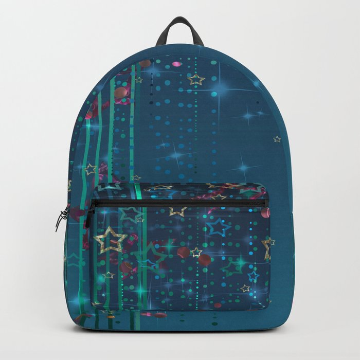 Magic fairy abstract shiny background with stars Backpack