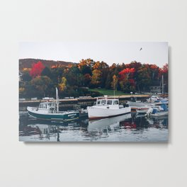 Lobster Boats in Maine Metal Print