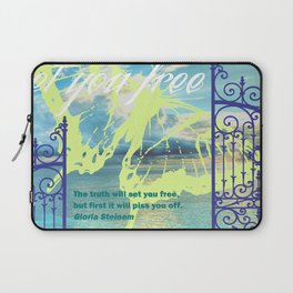 The truth will set you free Laptop Sleeve