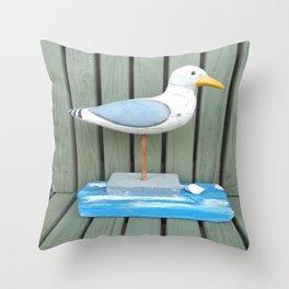 Sammy The Seagull Throw Pillow