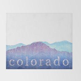 Colorado Mountain Ranges_Pikes Peak + Continental Divide Throw Blanket