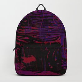 Disoriented Palette; Pink, Black and Purple Backpack