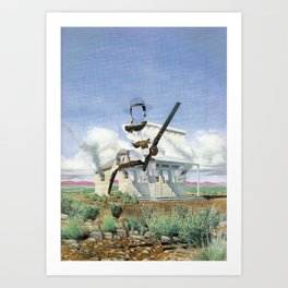 The Unknown Rider Hanging Woman Creek Art Print