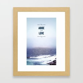 Abide Framed Art Print