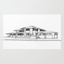 Darwin Martin House in Black & White Rug