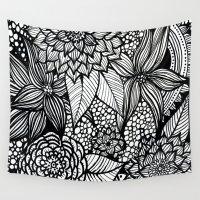 alisa burke Wall Tapestries featuring doodles by Alisa Burke