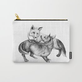 A fox and a dog  Carry-All Pouch