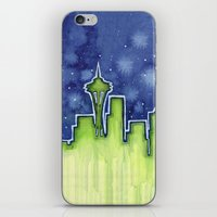 seattle iPhone & iPod Skins featuring Seattle  by Olechka