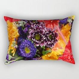 red geraniums flowers floral bouquet Rectangular Pillow