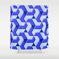 the xx Shower Curtains featuring Geometrix XX by Warwick Wonder Works