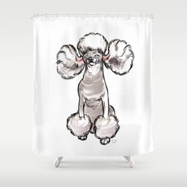 Stay Fabulous, Poodle! Shower Curtain