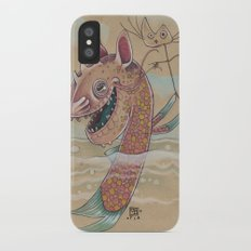 SWIMMING WITH PUPPETS Slim Case iPhone X