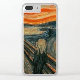 Classic Art - The Scream - Edvard Munch Clear iPhone Case