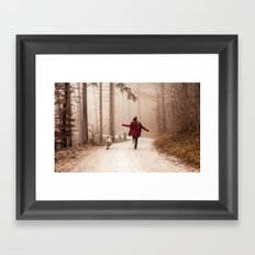 Red Riding Hood And The Big Bad Wolf Framed Art Print