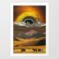 horses Art Prints featuring Horses by Steven Quinn