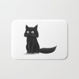 Sitting Cat (mono) Bath Mat