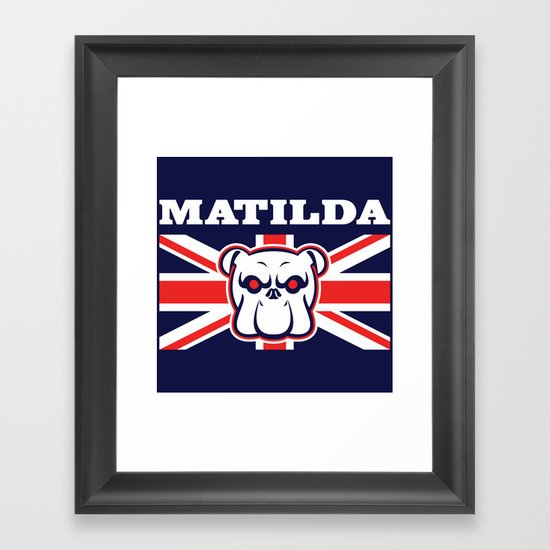 Matilda Framed Art Print