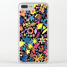 Autumm´s flowers and black Clear iPhone Case