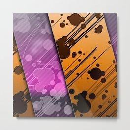 Lines Color Stripes Patterns Orange and Purple Metal Print