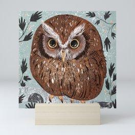 Painted Owl Mini Art Print