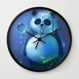 aqua panda Wall Clock