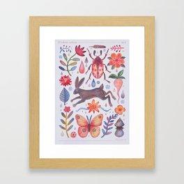 Et coloris natura V Framed Art Print