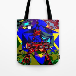 Abstract of Paris in the Spring with Stars Tote Bag