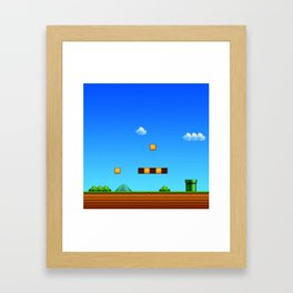 arena game mario Framed Art Print
