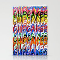 cupcakes Stationery Cards featuring CUPCAKES by Claudia McBain