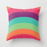 70s Throw Pillows featuring 70s Flair by Daniel Bevis