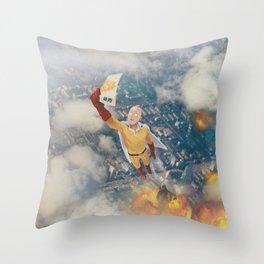 Saitama Throw Pillow