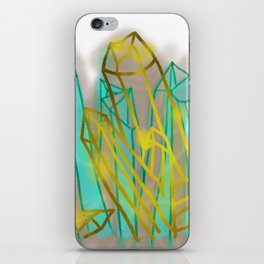 Crystals - Cyan iPhone Skin