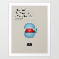 Elvis Devil Art Print
