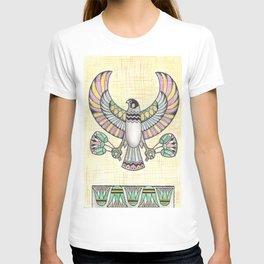 Falcon holding lotuses T-shirt