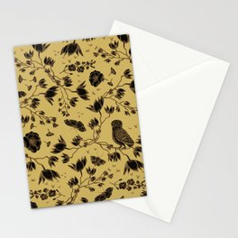 Orchid Owl Yellow Stationery Cards