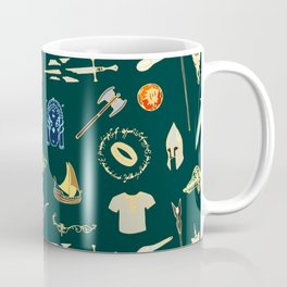 Lord of the pattern green Coffee Mug