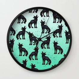 Grey Coyote Wall Clock