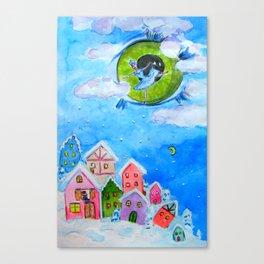 SNOWFLAKE STORY Canvas Print